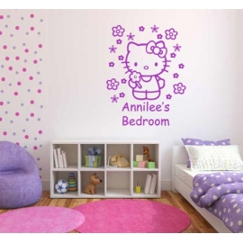 Hello Kitty Bedroom (60cm x 75cm)  Vinyl Wall Art