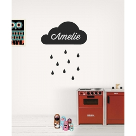 Rainy Name Cloud (30 x 60cm)  Vinyl Wall Art