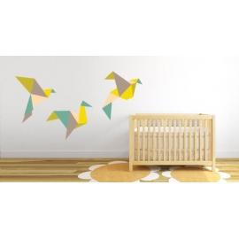 Flying Paper Birds (60cm x 90cm) Vinyl Wall Art