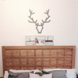 Deer Head 1 (60cm x 60cm)  Vinyl Wall Art