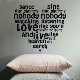 Heart Quotes (55 x 60) Vinyl Wall Art