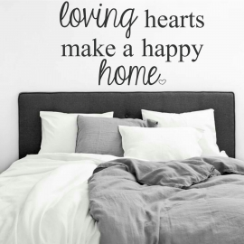 Loving hearts make a happy home (60 x 100cm) Vinyl Wall Art