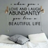 When you love and laugh abundantly (60 x 80cm) Vinyl Wall Art