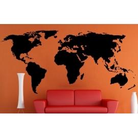 World Map Vinyl Wall Art