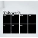Weekly Planner (53x78cm) Chalkboard Vinyl
