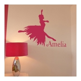 Ballet Shoes with name (28cm x 50cm)  Vinyl Wall Art