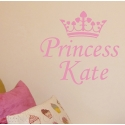 Princess Crown with name (45cm x 50cm)  Vinyl Wall Art