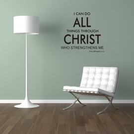 Phil 4:3 (60cm x 60cm)  Vinyl Wall Art