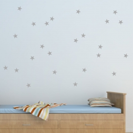 Set of 35 stars (40cm x 60cm)  Vinyl Wall Art