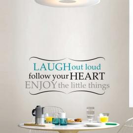 Laugh out Loud (30cm x 70cm) Vinyl Wall Art