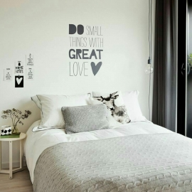 Do small things with great love (60 x 70cm) Vinyl Wall Art