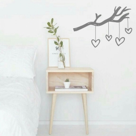 Branch Heart Strings (55 x 80cm) Vinyl Wall Art