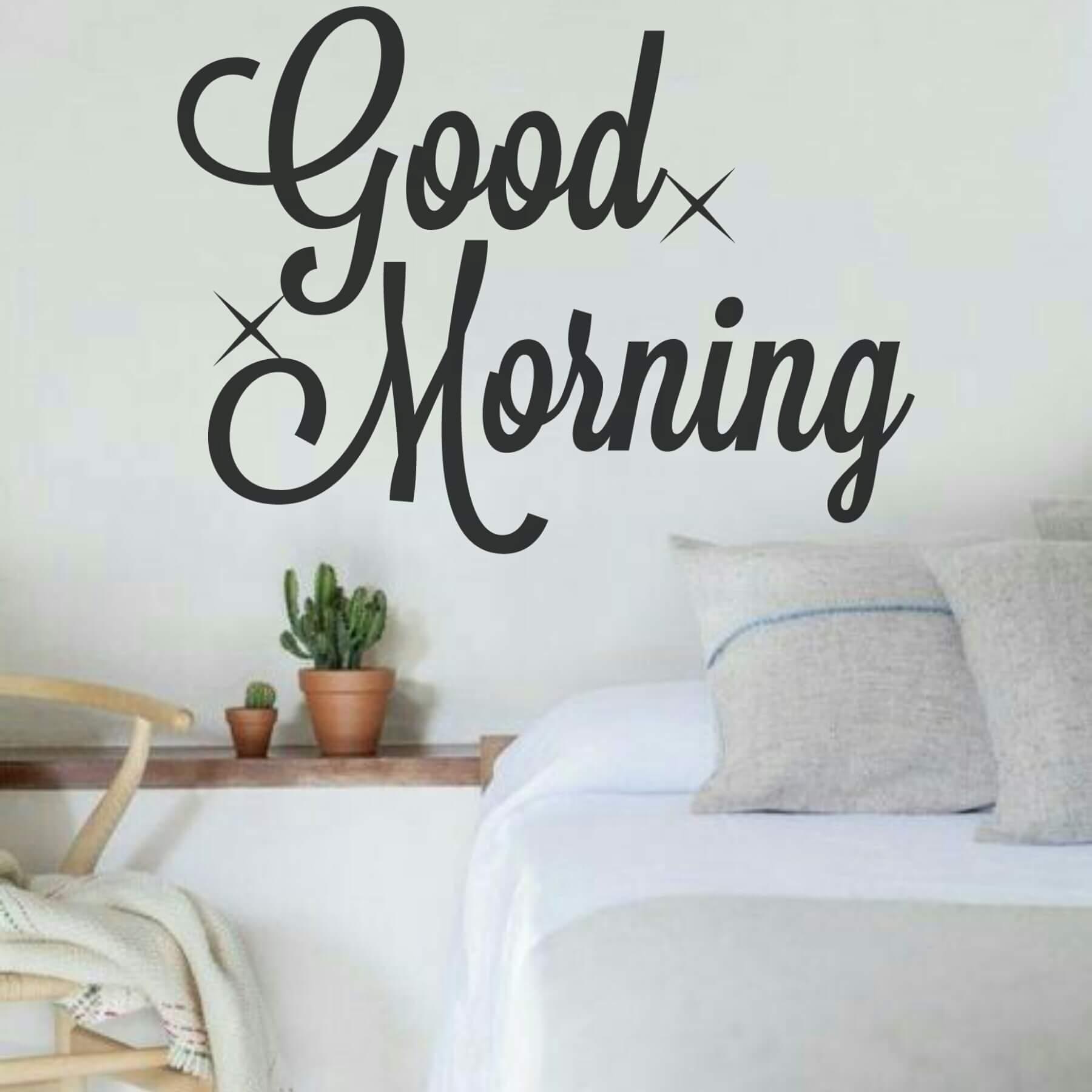 Good Morning 55 X 75cm Vinyl Wall Art