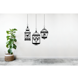 3 Hanging bird cages