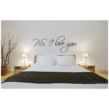 """PS I love you"" Vinyl Wall Art"