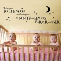 """I love you to the moon & back"" Vinyl Wall Art"