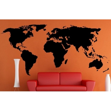 World Map Vinyl Wall Art