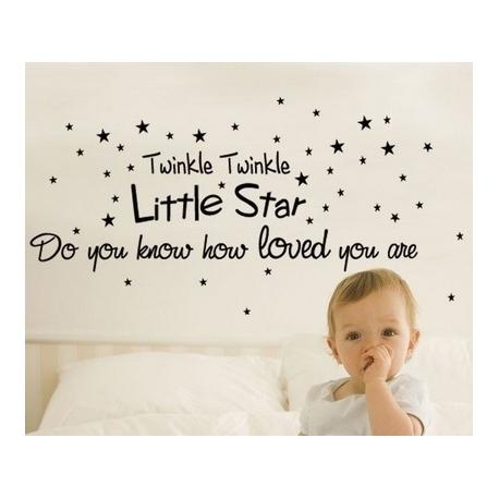"""""""Twinkle Twinkle little star"""" Vinyl Wall Art"""