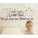 """Twinkle Twinkle little star"" Vinyl Wall Art"