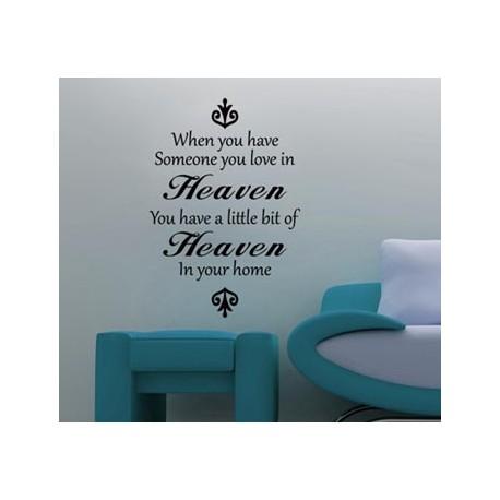 Someone in Heaven Vinyl Wall Art