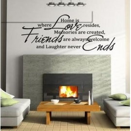 """Home is where Love resides"" Vinyl Wall Art"