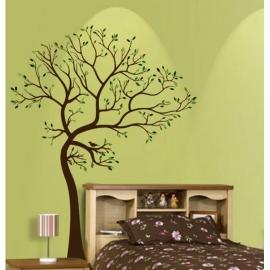 Large Brown & Green Tree Vinyl Wall Art