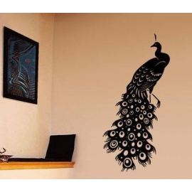 Peacock Vinyl Wall Art