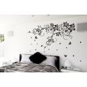 Butterfly Swirl Vine Vinyl Wall Art