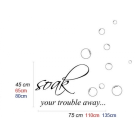 """Soak your trouble away"" Vinyl Wall Art"