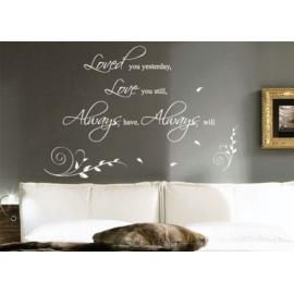 """""""Dance, Love, Sing, Live"""" Vinyl Wall Art"""