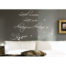 """Dance, Love, Sing, Live"" Vinyl Wall Art"