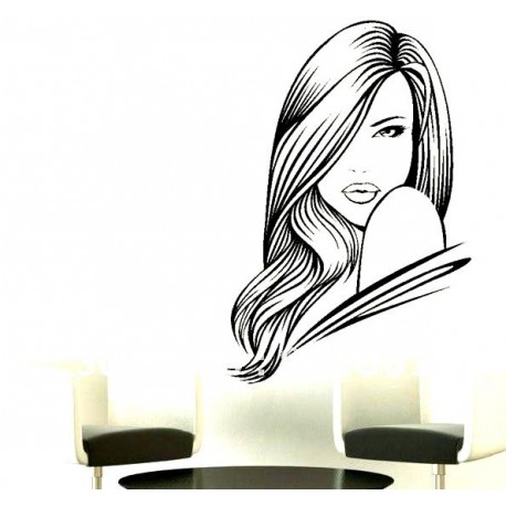 Salon Hair 2 Vinyl Wall Art