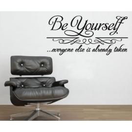 """Be Yourself"" Vinyl Wall Art"