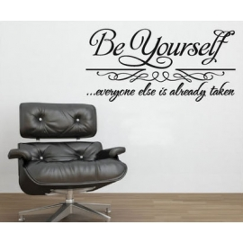 """Be Yourself"" Vinyl Wall Art"