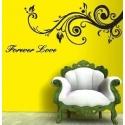 """Forever Love"" Swirly Branch Vinyl Wall Art"