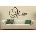"""""""Always & Forever"""" Vinyl Wall Art"""