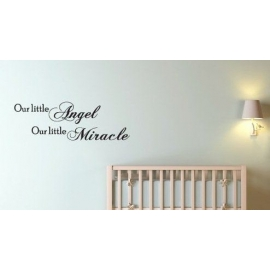 """Our little Angel Our little Miracle"" Vinyl Wall Art"