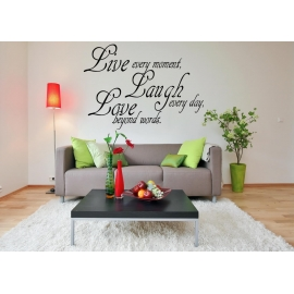 """Live, Laugh, Love"" Vinyl Wall Art"