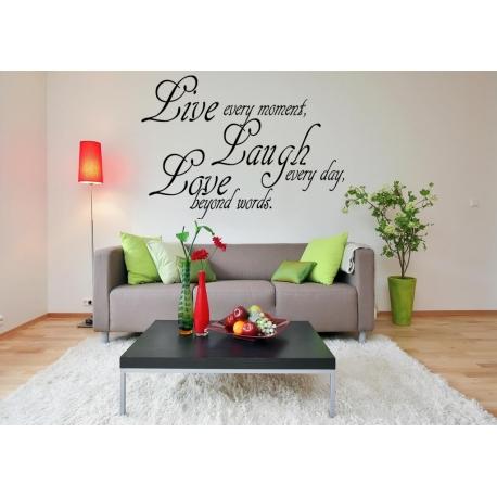 """Live, Laugh, Love"" Vinyl Wall Art"