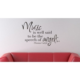 "Thomas Carlyle ""Music is well said to be the speech of angels"" Vinyl Wall Art"
