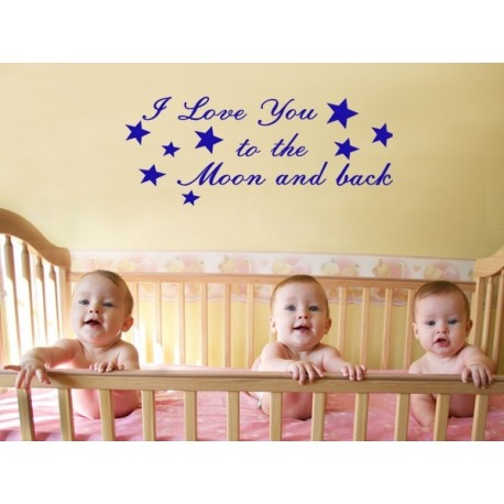"""I love you to the moon and back"" Vinyl Wall Art"
