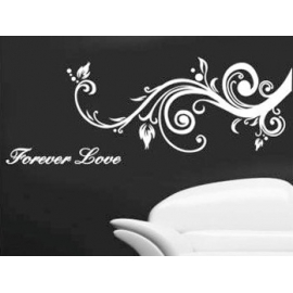 """Forever Love"" Swirly Branch Vinyl Wall Art"