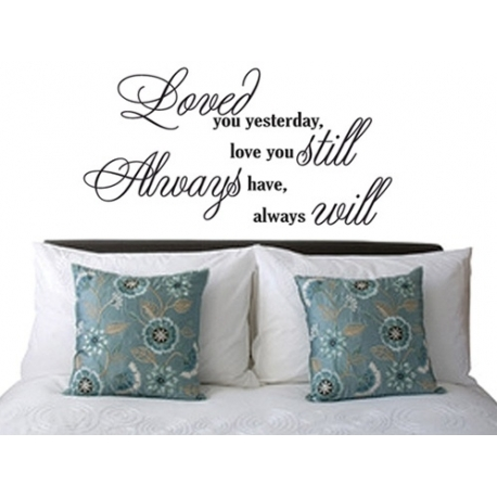 "Fancy ""Loved you yesterday"" Vinyl Wall Art (BLACK)"