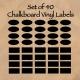 Set of 40 Chalkboard Vinyls