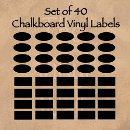 Set of 40 Chalkboard Vinyls